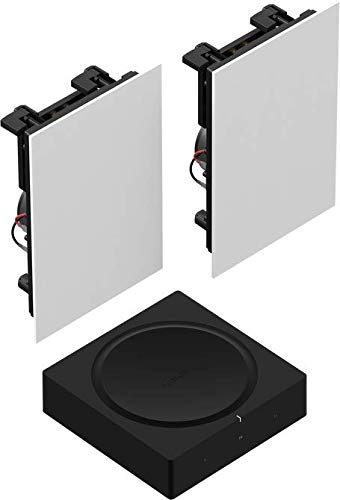 Sonos Amp Set | mit 1 Paar In-Wall Speaker by Sonance - (passiv, kabelgebunden, Sonos Trueplay Tuning)