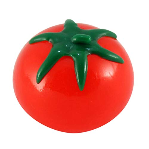 1PC Stress Ball, Round/Egg/Animal/Fruit Shape Stress Ball Fidget Toy, Squeezing Stress Ball for Kids, Stress Relief Sensory Ball for Adults, Squishy Stress Toy for Anxiety (#A Tomato Ball)