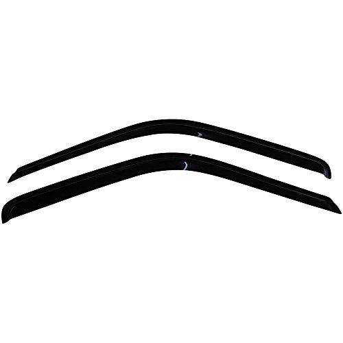 IKON MOTORSPORTS Tape On External Window Visor, Compatible With 1988-1998 Chevy C & K Reg Cab Pickup, Slim Style Acrylic Smoke Tinted Sun Rain Wind Guards Shield Vent