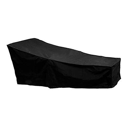 oceanheart Housse Bain de Soleil Transat Jardin Imperméable,Couverture Chaise Longue Exterieur,Bache Transat Fauteuil Jardin,Anti-UV Anti Vent Tissu de PVC Oxford - Noir (208x79x41-79 cm)
