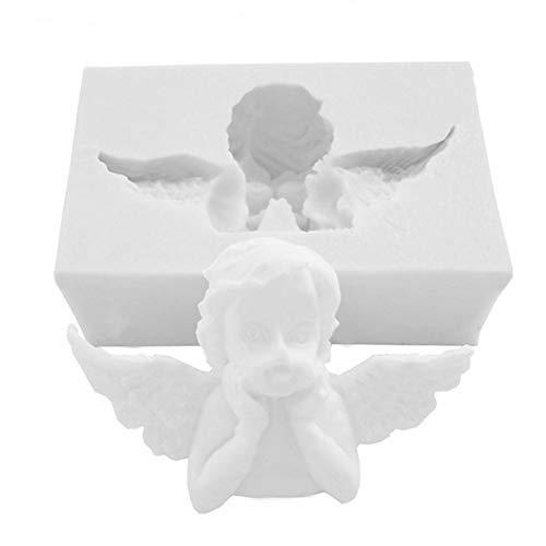 Moules à Pâtisserie DIY Silicone Moule Ange Cupidon 3D, Résistance à Haute Température, Gâteau Moule pour Bonbons, Sucette, Dentelle, Chocolat