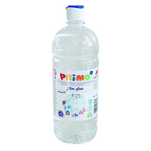 Morocolor PRIMO Film glue, colla ad acqua 1000 ml colla trasparente in bottiglia con tappo dosatore, alto potere collante, colla fluida lucidante, colla ad acqua trasparente lavabile, Made in Italy