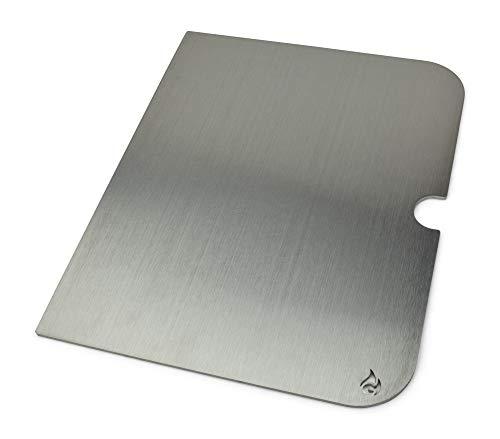 Placa de Parrilla de Acero Inoxidable y extensión del Espacio de cocción Adecuada para Go Anywhere, Tamaño :Grillplatte (1 Hälfte)
