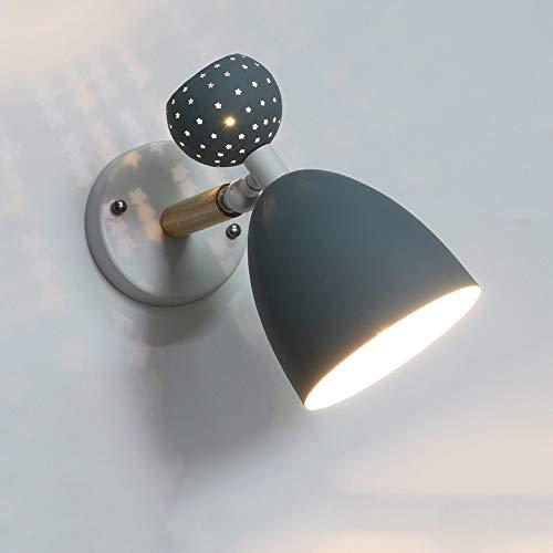Macaron wandlamp van metaal, creatief, voor woonkamer, slaapkamer, wanddecoratie, verlichting, verstelbaar, armen met scharnieren, ijzer, kunst wandlamp