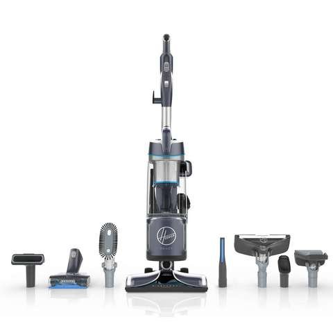 Hoover React Powered Reach Premier Bagless Upright Vacuum