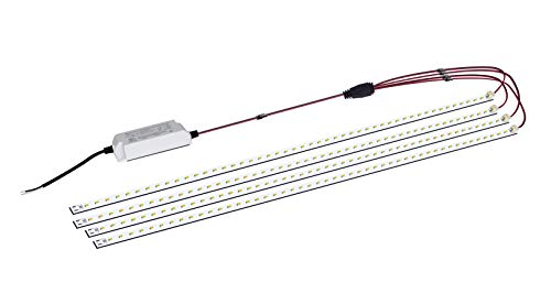 Magnetic LED Troffer Retrofit Kit 2x4FT,72W LED Tube Retrofit kit,150LM/W,5000K Daylight,0-10V Dimmable,T8 T10 T12 Fluorescent Replacement,UL Cert,Easy to Install