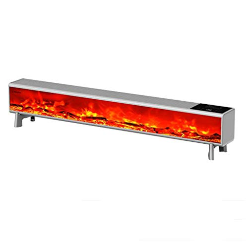 heating Baseboard heater double copper 2200w power household LED flame screen intelligent constant temperature humidifying heater dark iron gray 1376 * 153 * 175mm