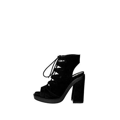Bronx 84443-D Sandale Femme Suède Noir Noir 39