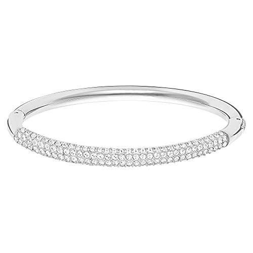 Swarovski Bracelet-Jonc Stone, Blanc, Acier Inoxydable