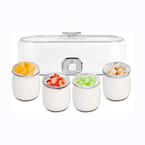 JJZXD Inizio del Yogurt Che Fa Macchina -Automatic Yogurt Maker Macchina 4 vasi di Vetro Personalizzare a Proprio Sapore e Spessore Elettrico Maker