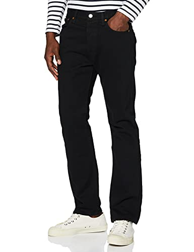 Levi's Herren 501 Original Fit Jeans, Schwarz (Black 801), 32W / 34L
