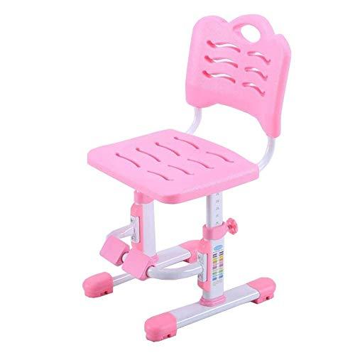 JIEER-C stoelen voor de tijd Libero kinderstoel voor studiostoel, in hoogte verstelbaar, 42-54 cm, comfortabele pasvorm, antislip, robuust PINK
