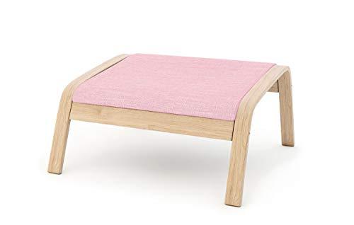 Masters of Covers - Funda de repuesto para sillón de Ikea «Poäng», Poliéster - rosa., Footstool Design 2