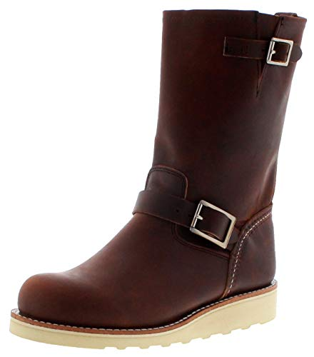 Red Wing Shoes Damen Stiefel 3471 Copper Engineerstiefel Braun inkl. Schuhdeo 41 EU