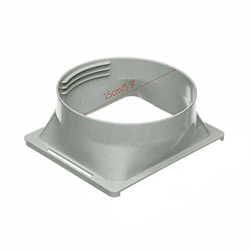 Gelentea - Conector para tubo de escape de aire acondicionado, para el conducto de salida, adaptador de tubo, de manguera, para aire acondicionado portátil, fácil de usar, Interfaz cuadrada, 150 mm