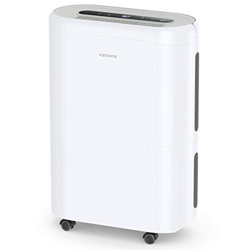 Kesnos 4000 Sq. Ft Dehumidifier for Home, Basement, Bedroom, with Intelligent Humidity Control, Continuous Drain Hose and Wheel