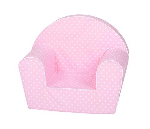 Knorrtoys 68347 Kindersessel-Pink White dots