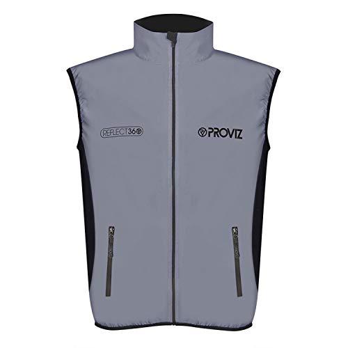 Proviz Men's Reflect360 Running Vest, Silver, X-Large