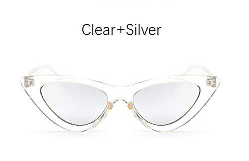 MOJINGYAN Zonnebril Kat Oogschaduw Voor Vrouwen Mode Zonnebril Merk Vrouw Vintage Retro Driehoekige Cateye Bril Oculos Feminino Zonnebrillen, E