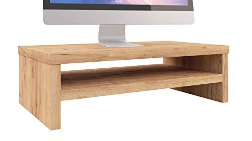 Epi-Tech Premium Monitorständer Bildschirmständer Laptopständer Monitorerhöhung Schreibtischaufsatz, 42 x 23 x 13 cm - Eiche Craft Goldene
