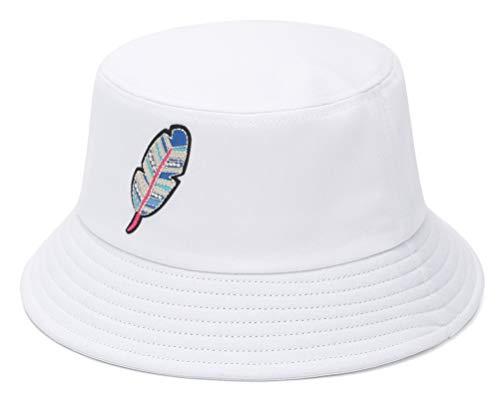 GEMVIE-Gorro Pescador Mujer Sombrero Pescador Hombre Bucket Hat de ala Ancha Protección Solar Gorro Pesca Plegable Sombreros Cubo Verano