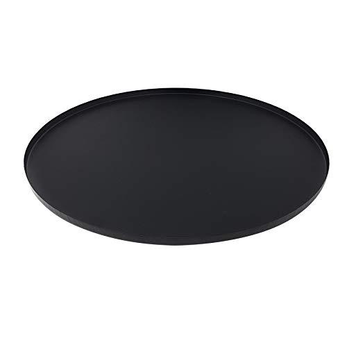 Esschert design Large Garden Safety Base Black Plate for Brazier Firepit BBQ Chimanear Basket 19'