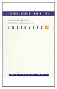 Probability and Statistics for Engineers: Student Solutions Manual 0534209653 Book Cover