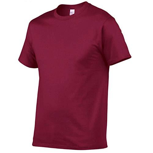 DSHRTY Top d'été,été Nouveau T-Shirt Homme de Haute qualité décontracté à Manches Courtes col Rond 100% Coton t-Shirt Homme Blanc Noir Tee Shirt, Couleur Millet, S