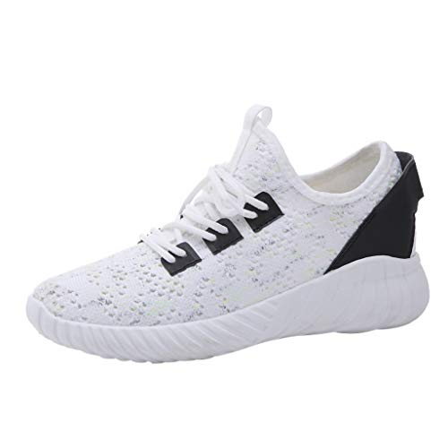 Lightweight Running Shoes Women,Women's Openwork Sneakers Breathable Running Shoes Comfortable Casual Shoes,Women's Tennis & Racquet Sport Shoes,White,US:6