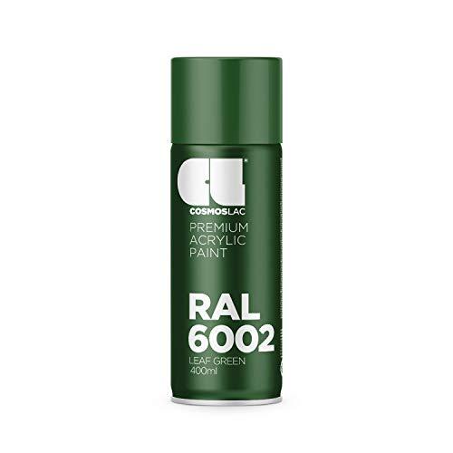CL COSMOS LAC Sprühlack grün, glänzend - Spraydosen Sprühfarbe DIY Lack Acryllack Spray Farbspray Sprühdose Lackspray Farbe für Kunststoff, Metall, UVM. (RAL 6002 - laubgrün)
