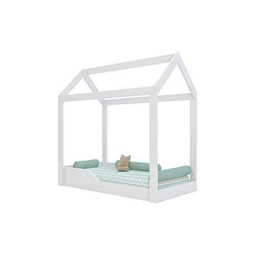 Mini Cama Montessoriana Crystal Branco - Peternella
