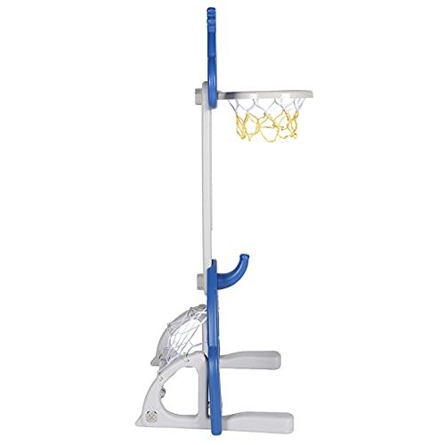 Zhjvihx Soporte de Baloncesto para niños, 61~102 cm / 24~40,2 Pulgadas Juego de Soporte de Baloncesto Ajustable para niños para niños