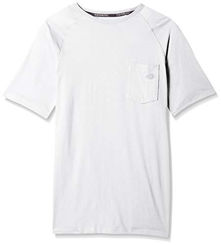 Dickies Men's Short Sleeve Performance Cooling Tee, White, XL