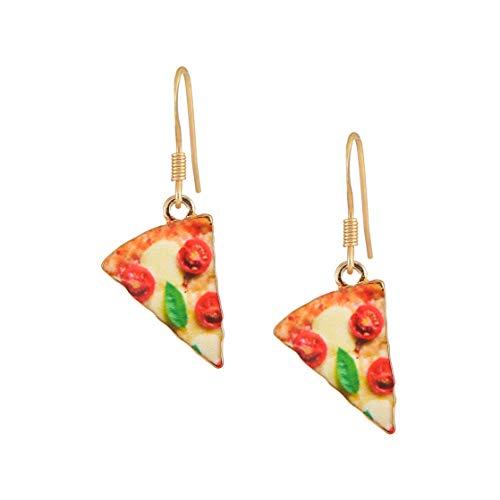 chelseachicNYC Whimsical Charm Dangle Earrings Pepper Meatball Pizza