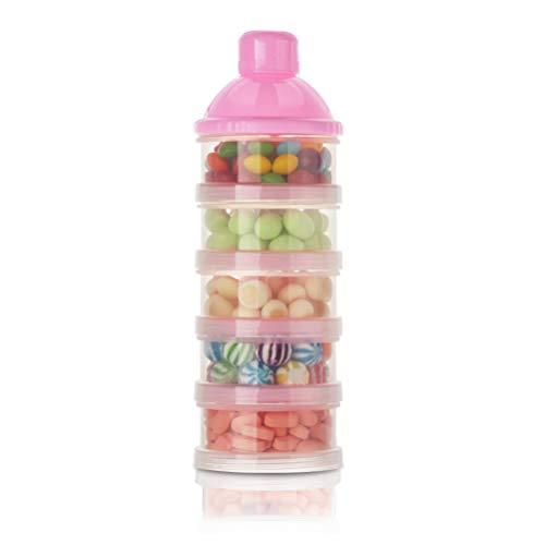Anewu Milch Pulver Spender, Baby Milchpulverspender Formel Milchpulver Portionierer Nahrungsmittel Behälter Speicher Feeding Box 5 Schicht