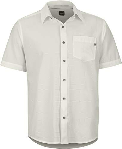 Marmot Herren Aerobora Short Sleeve Hemd, Moonbeam, S