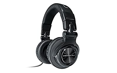 Denon DJ HP1100 | Professional Over-Ear DJ Headphones with 180-degree Cup Swivel & Leather Carry Bag (53mm driver / 3500mW input) from inMusic Brands Inc.