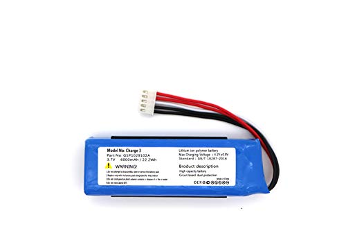 Replacement Battery for JBL Charge 3 GSP1029102A(6000mAh)