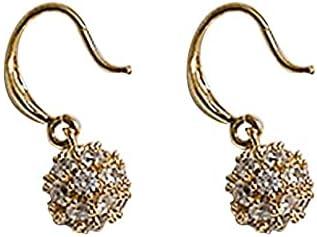 Guerast Simple Style Full Zircon Earrings Sweet Atmosphere Earrings Multiple Uniform Small Ball Shape Diamonds Earrings