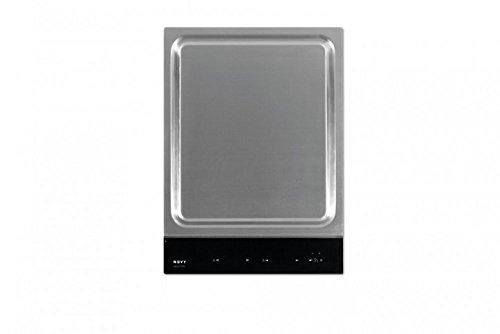 Nowy Teppanyaki–Platten (integriert, Induktion, Edelstahl, Schwarz, Edelstahl, Berühren, oben vor)