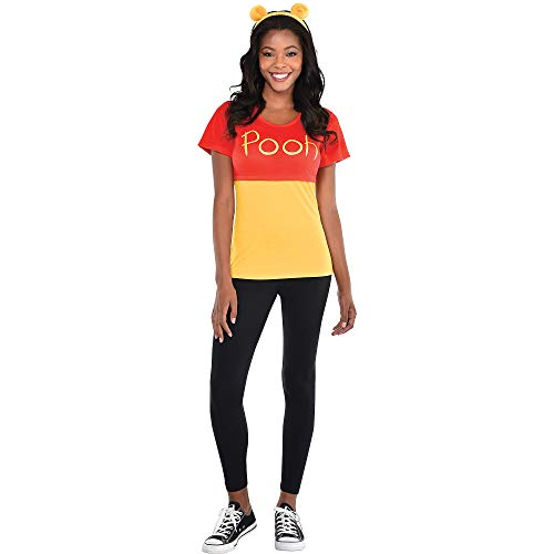 Party City Pooh Halloween Costume Kit for Adults, Winnie The Pooh, Large/X-Large, with T-Shirt and Headband