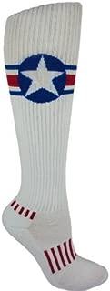Red, White, and Blue American Star Knee-High Deadlift Socks