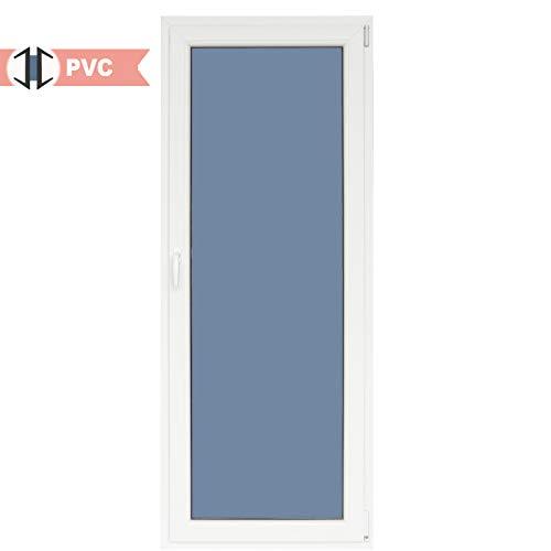 Balconera PVC Practicable Oscilobatiente 1 hoja con apertura a Derecha 800 ancho x 2000 alto