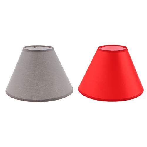 Amuzocity 2x Pantalla de Lámpara de Pantalla de Tela Iluminación Del Hogar para Estudio de Oficina