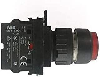 ABB SK616001B 1/pkg 690VV ABB SK616001B B 1/Pkg Contact Block with RED Indicator Light 690V IEC, 947-5-1