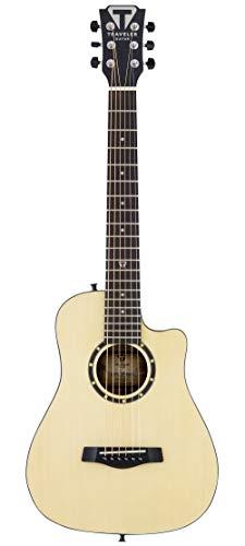 Traveler Guitar Guitarra acústica de 6 cuerdas, derecha, natural (CS10 SPBWD)