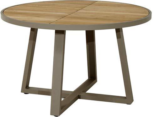 Ploß Original Tisch Jardin Teak-Aluminium Ø 125cm Gartenmöbel Terrassentisch Tische Teakholz