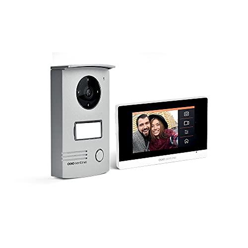 SCS Sentinel Conectado videoteléfono Puerta con la Pantalla táctil Extra Plano-Video Portero Wired VisioDoor 4.3+ -PVF0040, 10,9 cm