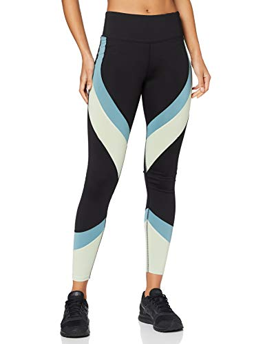 Aurique Leggings deportivos para Mujer, Negro (negro/ártico/verde)., XS