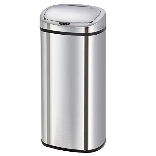 Kitchen Move - Cubo de Basura automático, 42l, Acero Inoxidable, Cromado, 80 litres